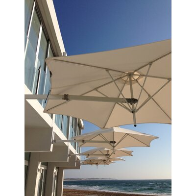 9 Paraflex Wall Mount Umbrella Fabric: Texsilk Olefin - Natural