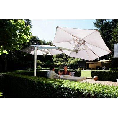 9 Paraflex Cantilever Umbrella Fabric: Texsilk Olefin - Natural
