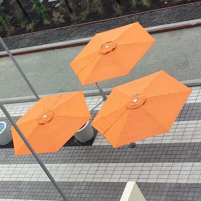 9' Paraflex Cantilever Umbrella Fabric: Sunbrella Acrylic - Canvas PXMF3-R27-EURO-SLV-SB-5453-LONG