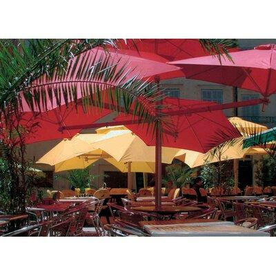 7 Paraflex Cantilever Umbrella Fabric: Texsilk Olefin - Red