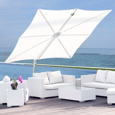 10 Spectra Square Cantilever Umbrella Fabric: Texsilk Olefin - Stone Gray
