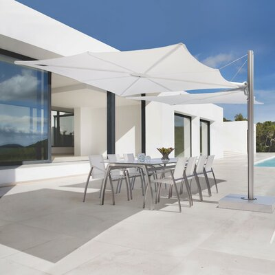 8 Spectra Square Cantilever Umbrella Fabric: Texsilk Olefin - Nero
