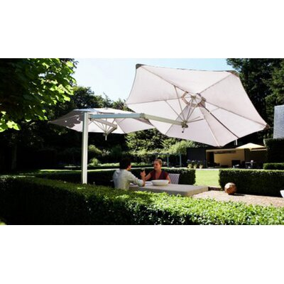 7 Paraflex Cantilever Umbrella Fabric: Sunbrella Acrylic - Jockey Red