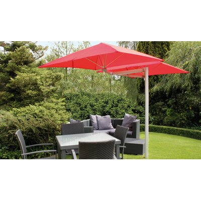 6 Paraflex Square Cantilever Umbrella Fabric: Texsilk Olefin - Red