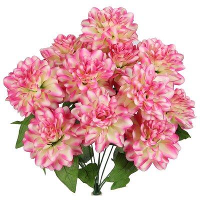 12 Stems Artificial Full Blooming Dahlia Color: Velvet Tip
