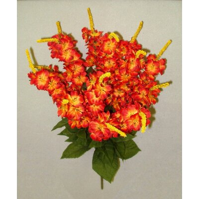 Artificial Stock Flowers Bush Color: Fire Red