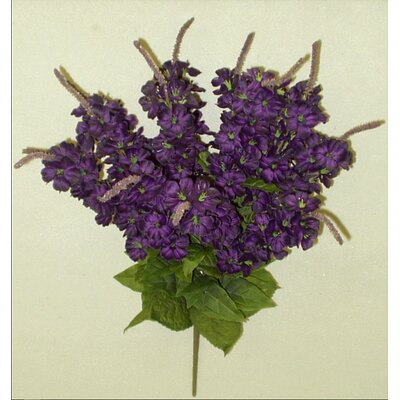 Artificial Stock Flowers Bush Color: Purple