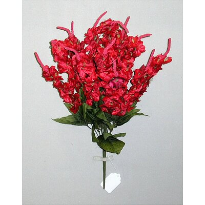 Artificial Stock Flowers Bush Color: Red