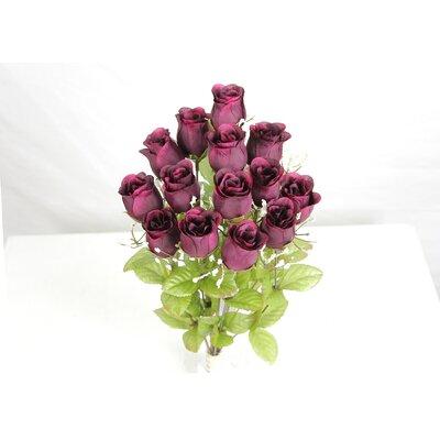14 Stems of Artificial Blossoms Bush Color: Grape