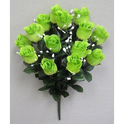 14 Stems of Artificial Blossoms Bush Color: Kiwi