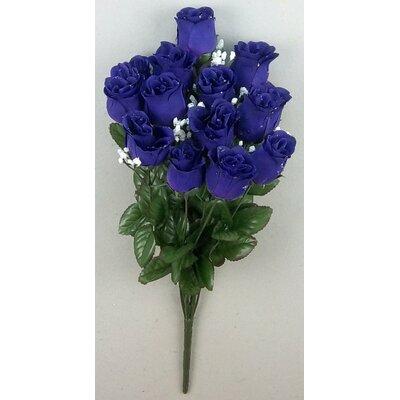 14 Stems of Artificial Blossoms Bush Color: Purple