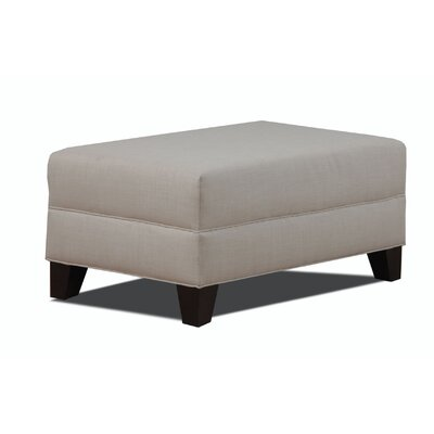 Makenzie Cocktail Ottoman Color: Natural image