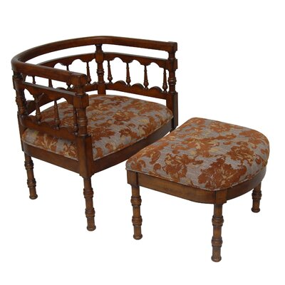 Savannah Fabric Armchair and Ottoman