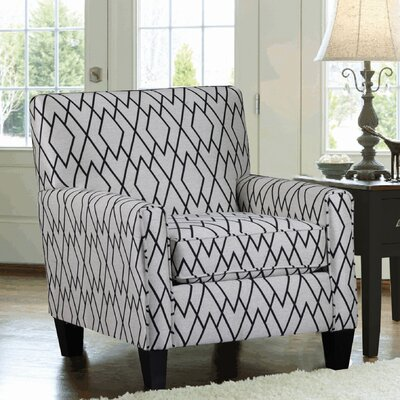 Woven Fabric Upholstered Armchair