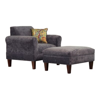 Tracy Porter Armchair and Ottoman with Accent Pillow