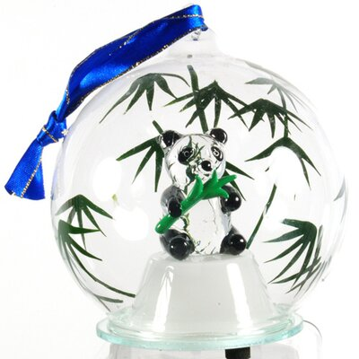 Light Up Glass Panda Ornament HDD-110
