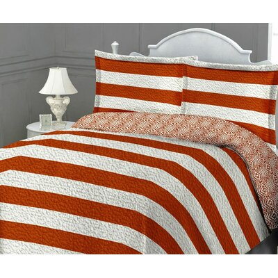 St. Tropez Quilt Set Size: King, Color: Orange
