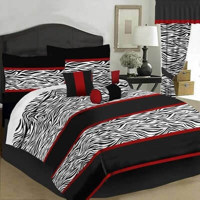 Zaire 7 Piece Comforter Set Size: King