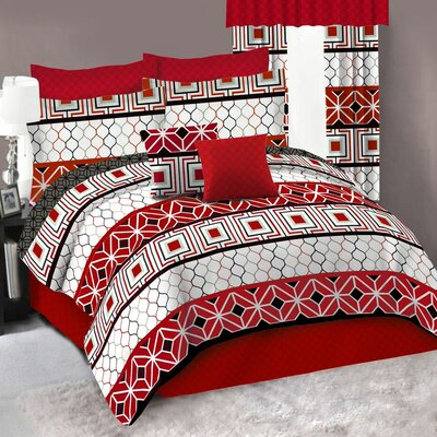 Geox Complete 4 Piece Comforter Set Size: Full