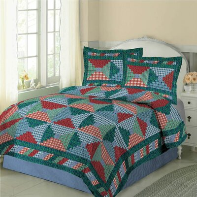 Plaid Patchwork Quilt Set Size: Twin