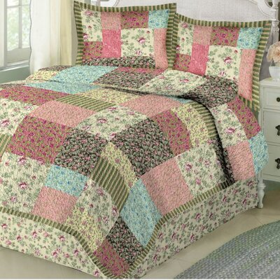 Garden Stroll 3 Piece Quilt Set Size: King