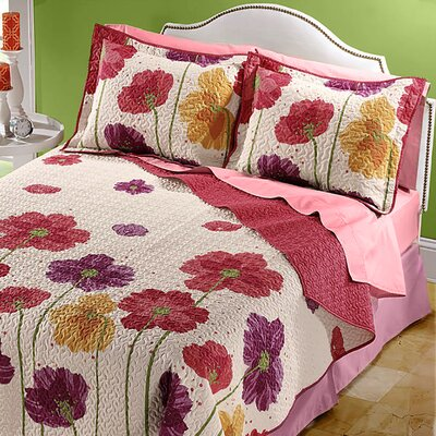 Coquette Whole Cloth Quilt Size: Full/Queen