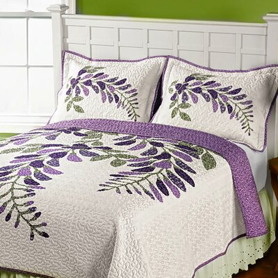 Wisteria Whole Cloth Quilt Size: Twin