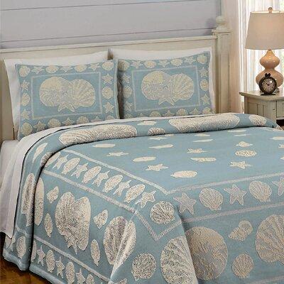 Coastline Jacquard Bedspread Size: Queen