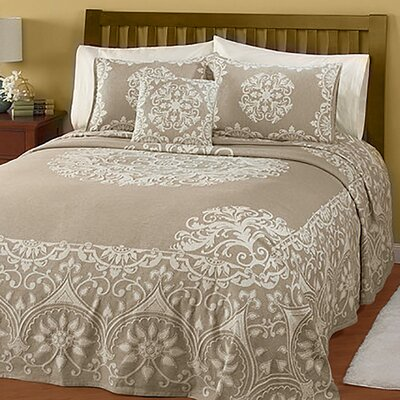 Natural Opulence Jacquard Bedspread Size: Full