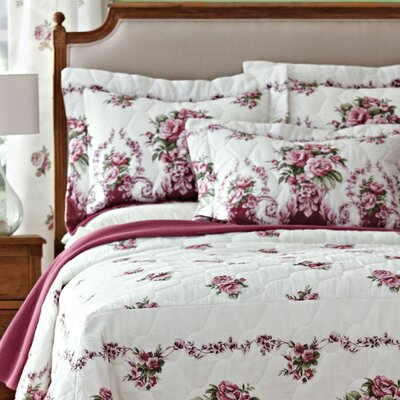 Bloomfield Rose Mitered Corner Bedspread Size: Twin
