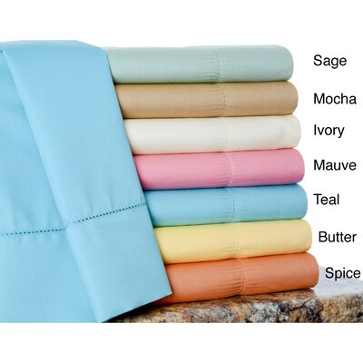 Rich 600 Thread Count Cotton Sheet Set Size: Full, Color: Mauve