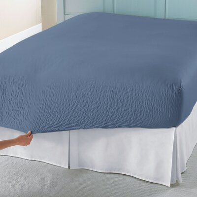 BedTite Flannel Cotton Sheet Set Size: Full, Color: Blue