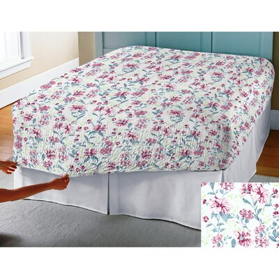 BedTite Marissa Floral 300 Thread Count Cotton Sheet Set Size: King, Color: Raspberry