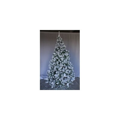 8' Snow Flocked Artificial Christmas Tree PVCS-8