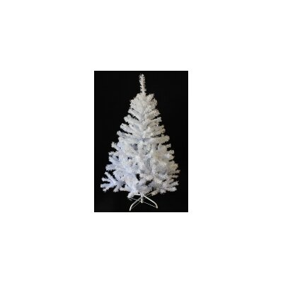 4' White PVC and Crystal Artificial Christmas Tree