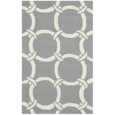 Shorehaven Gray/Ivory Area Rug Rug Size: Rectangle 5 x 8