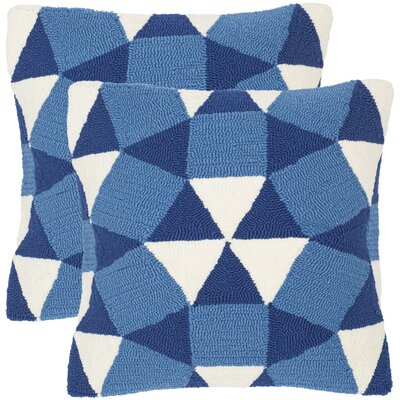 Abstract Puzzle Decorative Indoor Outdoor Throw Pillow Color: Marine