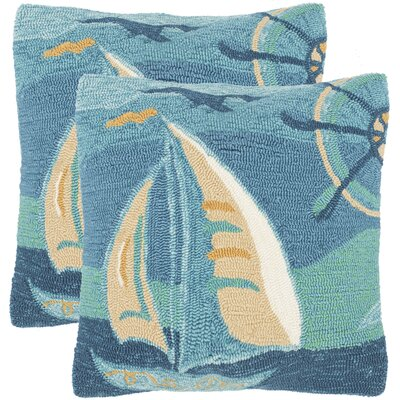 Outdoor Throw Pillow Color: Sea Green