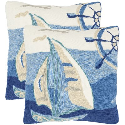 Outdoor Throw Pillow Color: Marine