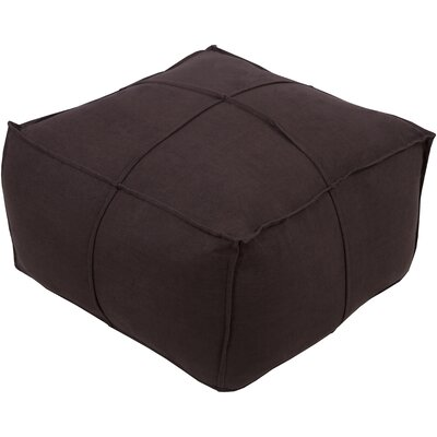 Waterbury Pouf Upholstery: Black