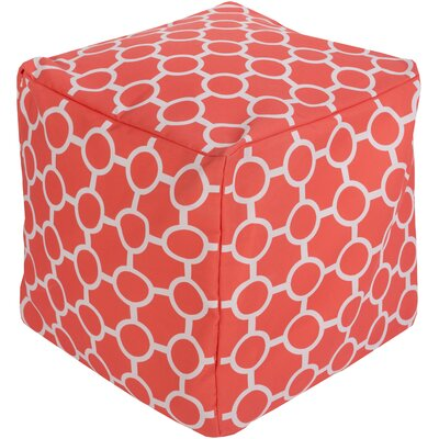 Newry Pouf Upholstery: Coral