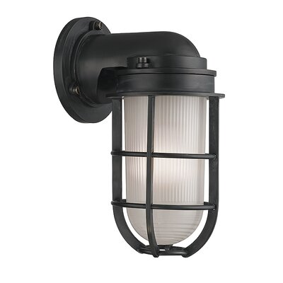 Breakwater Bay Stonewall 1 Light Outdoor Wall Sconce