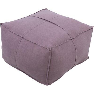 Waterbury Pouf Ottoman Upholstery: Mauve