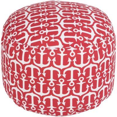 Ann Arbor Pouf Ottoman Upholstery: Poppy
