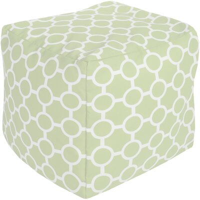 Newry Pouf Ottoman Upholstery: Light Green