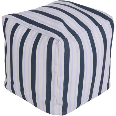 Virginia Beach Pouf Upholstery: Navy