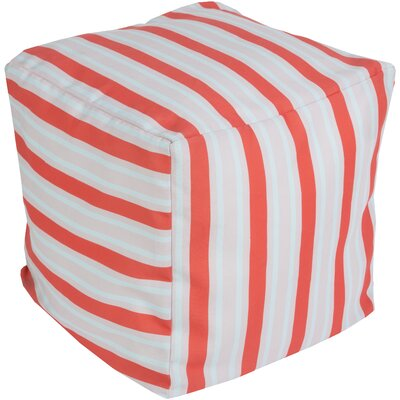 Virginia Beach Pouf Upholstery: Coral
