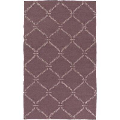 Landing Hand Woven Purple Area Rug Rug Size: 4 x 6
