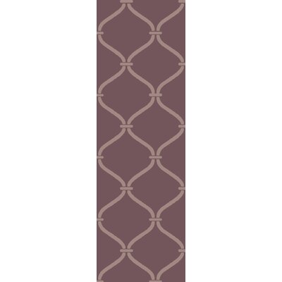 Landing Hand Woven Purple Area Rug Rug Size: Runner 26 x 8