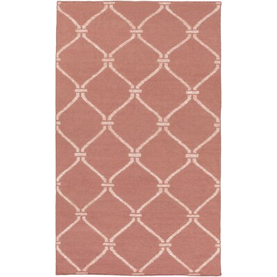 Landing Hand Woven Pink Area Rug Rug Size: Rectangle 4' x 6'
